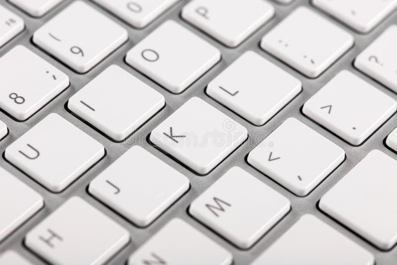 Close-up computer keyboard keys. With bokeh effect stock photos