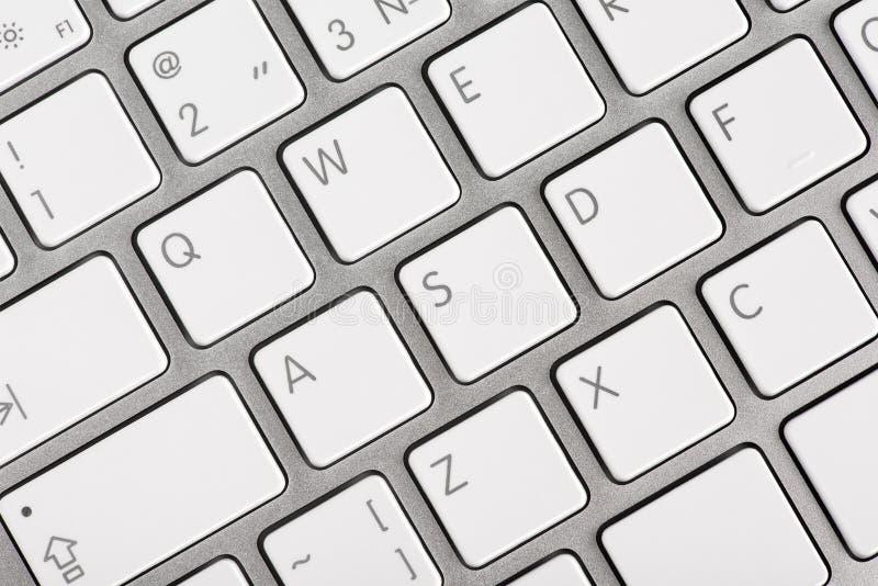 Close up computer keyboard keys. Close up top view of a computer keyboard keys stock photo