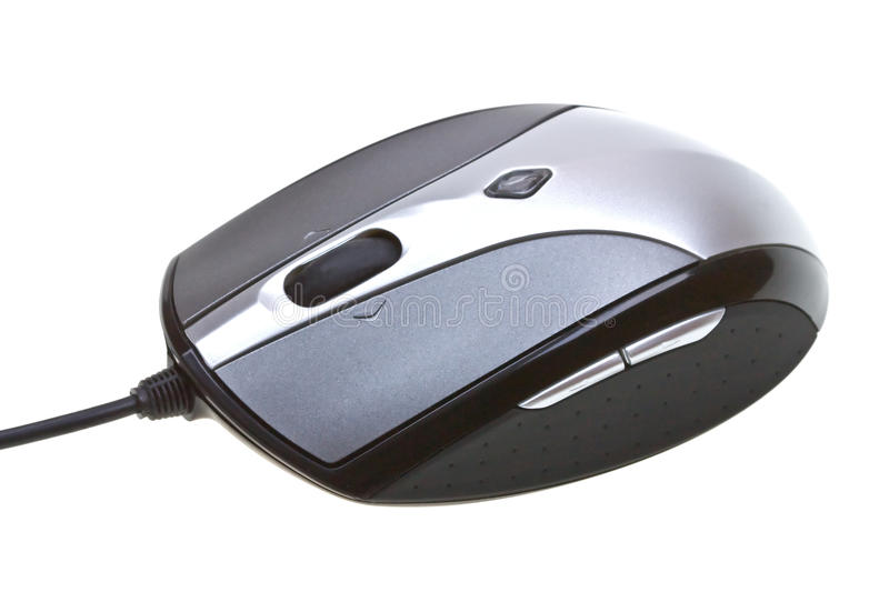 Close-up computer mouse isolated on white stock photo