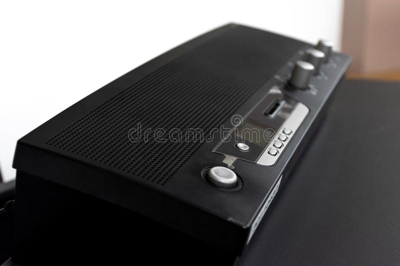 Close up control Units microphone meeting.  royalty free stock images