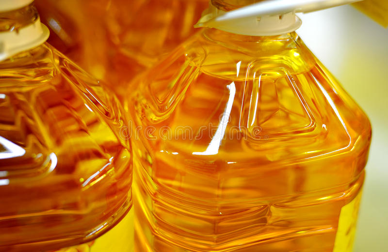 Close up of cooking oils royalty free stock images