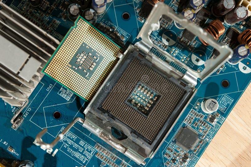 Close up CPU Socket royalty free stock photos