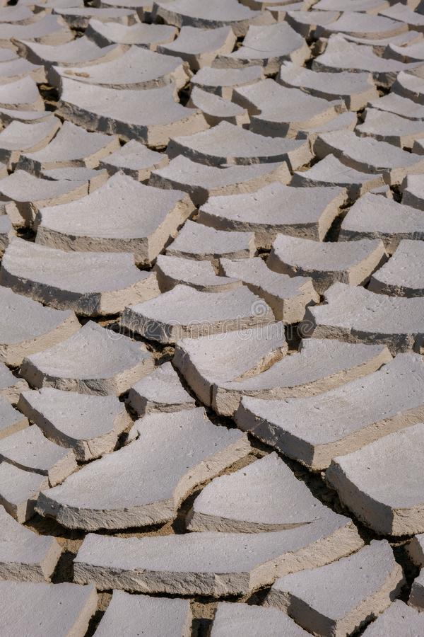 Close up of cracks on the drought land. Global warming concept abstract arid background barren bed brown clay climate change conservation crisis dam dead royalty free stock photos