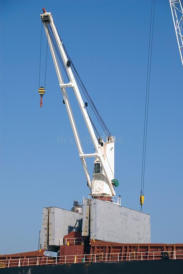 Close Up Of Crane On Docks Royalty Free Stock Photo