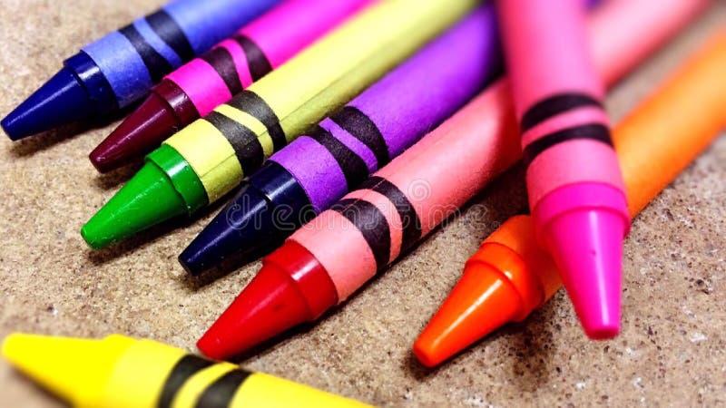 Close-up of Crayons royalty free stock photos