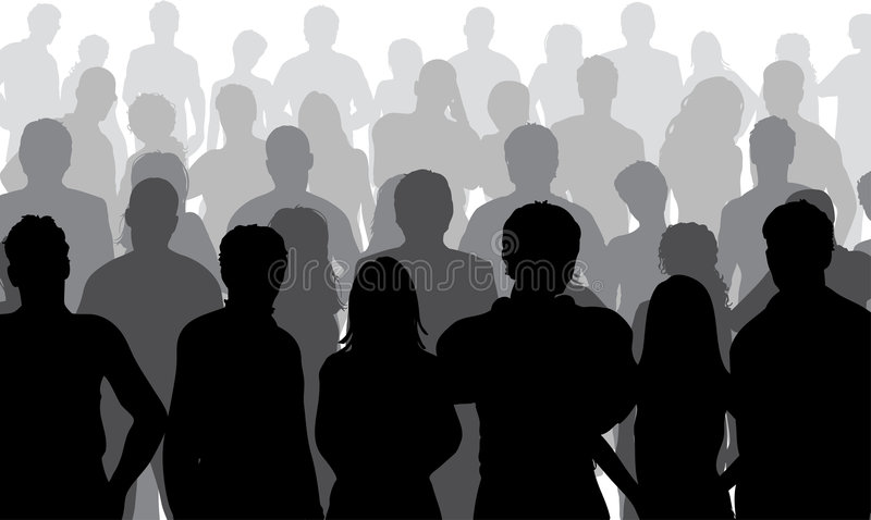 Close up crowd vector illustration