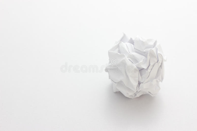 Close-up of crumpled paper ball royalty free stock image