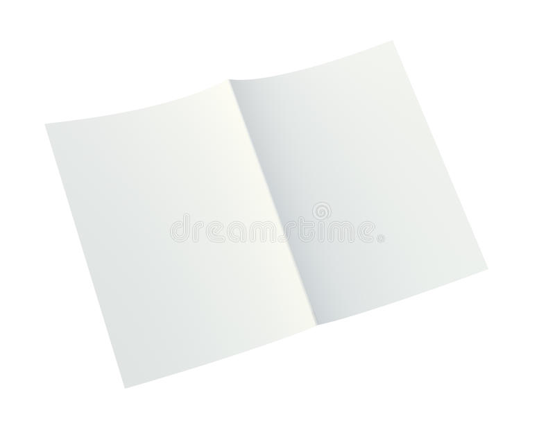 Close up of a crumpled unfolded piece of paper. 3d rendering. Close up of a crumpled unfolded piece of paper. Isolated on white background. 3d rendering stock illustration