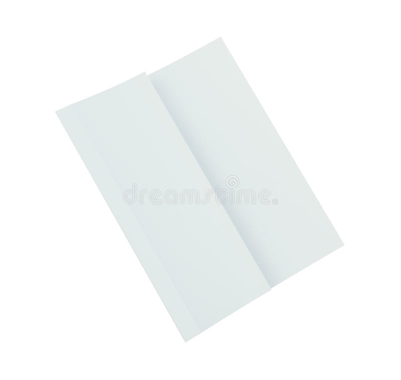Close up of a crumpled unfolded piece of paper. 3d rendering. Close up of a crumpled unfolded piece of paper. Isolated on white background. 3d rendering vector illustration