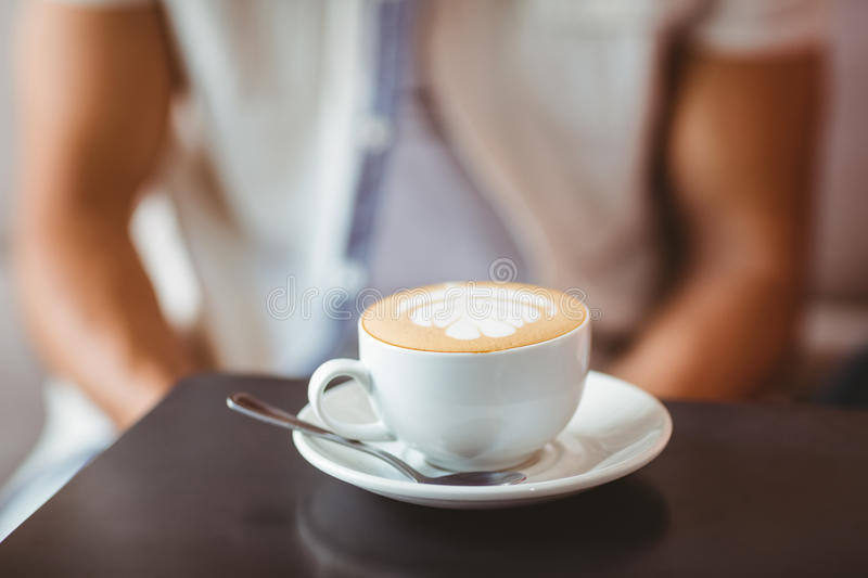 Close up of cup of coffee royalty free stock images