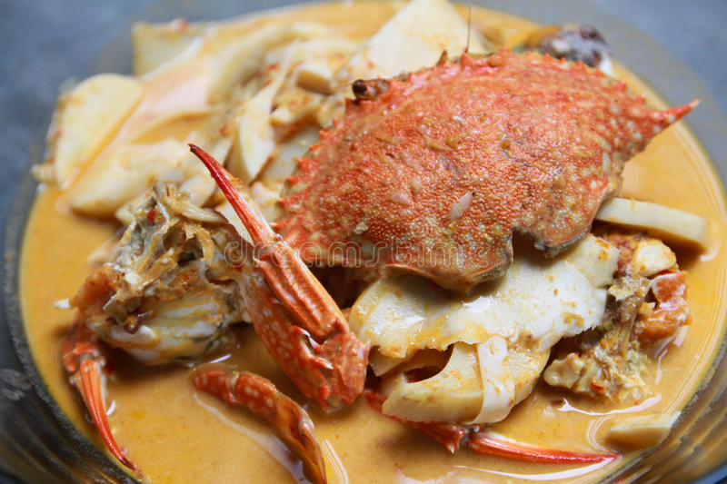 Close up of curry crab