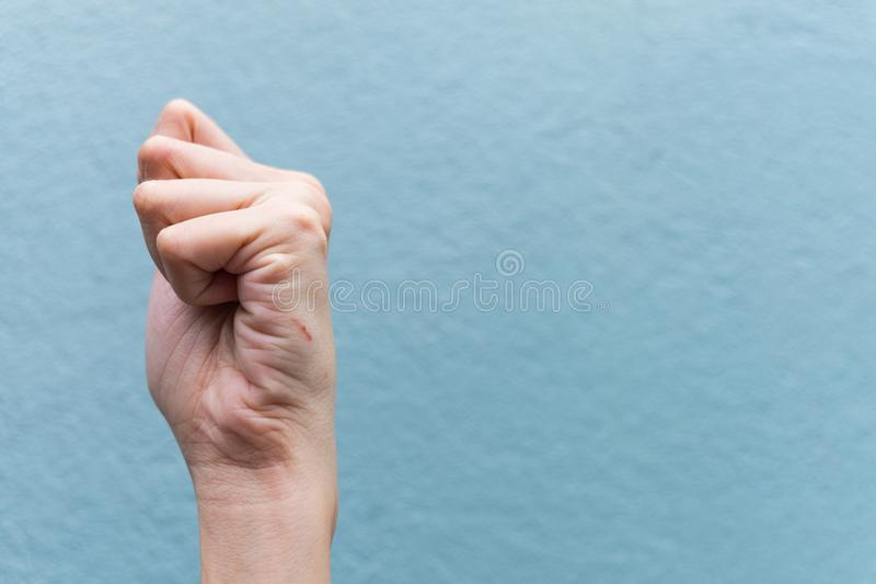 Close up of a cut hand with bleeding royalty free stock photos