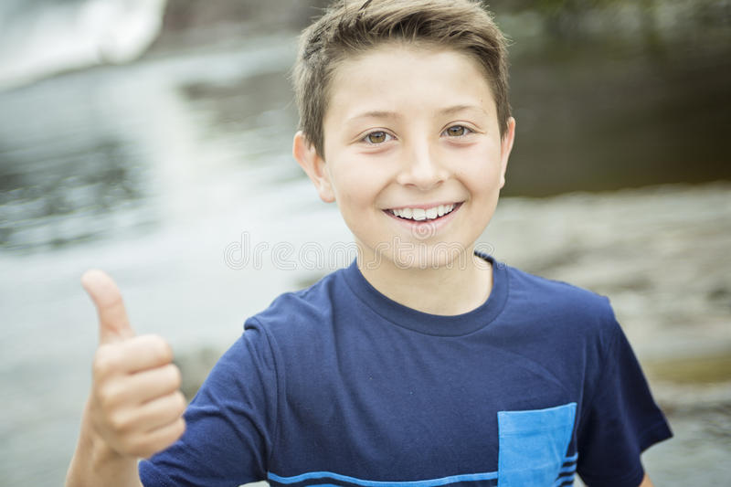 Close up of a cute 8 year old boy stock photos