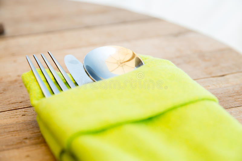 Download Close Up Of Cutlery Set On Table Stock Photo - Image of cloth napkin & Close Up Of Cutlery Set On Table Stock Photo - Image of cloth ...