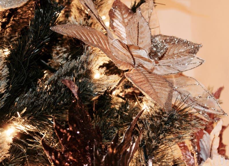 Close up da árvore de Natal - detalhe fotos de stock