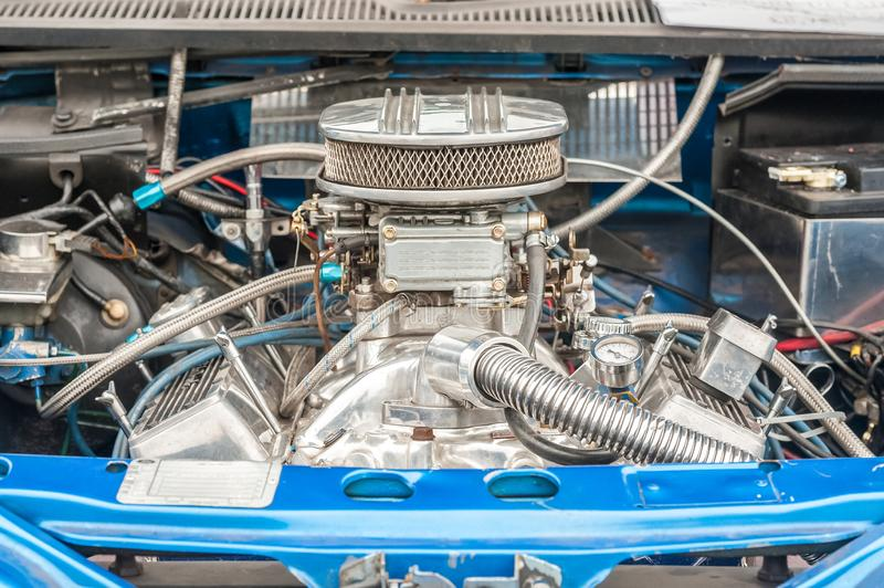 Close-up da baía de motor do veículo fotografia de stock royalty free