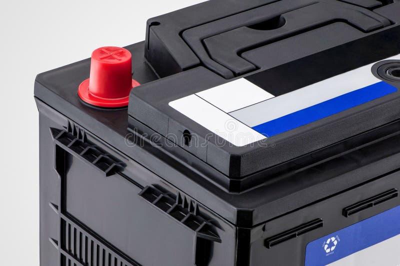 Close up da bateria de carro fotografia de stock