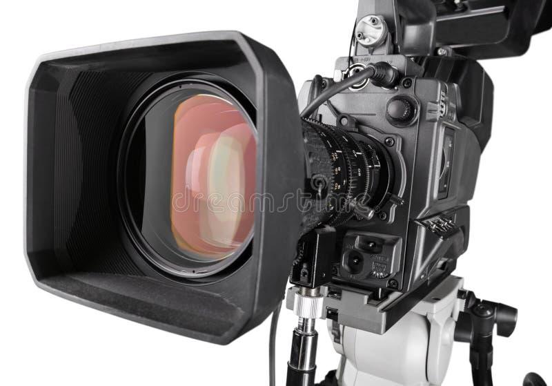 Close-up da câmara de vídeo preta imagens de stock royalty free