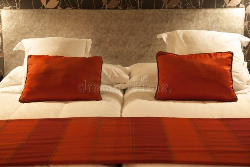 Close up da cama imagem de stock