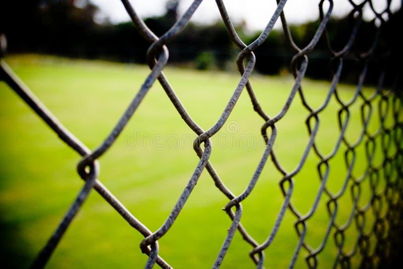 Close up da cerca da ligação Chain foto de stock