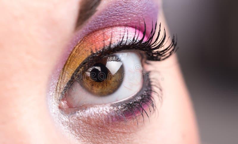 Close up da composição do olho foto de stock
