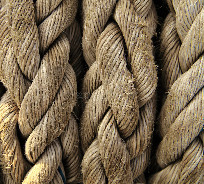 Close up da corda de barco. Fundo náutico. fotografia de stock royalty free