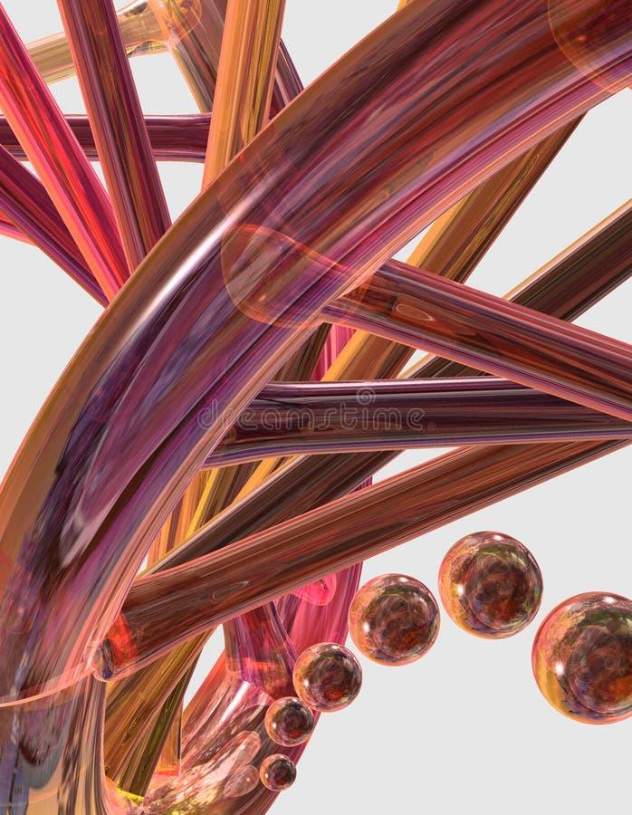 Close-up da corda do ADN ilustração stock