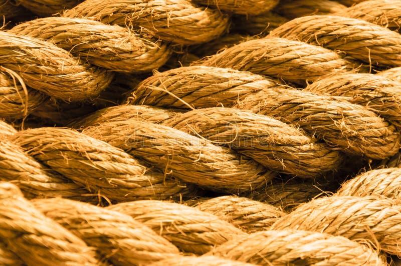 Close-up da corda do cânhamo foto de stock royalty free