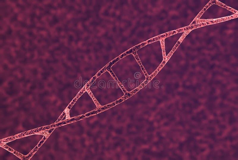 Close up da costa do ADN ilustração do vetor