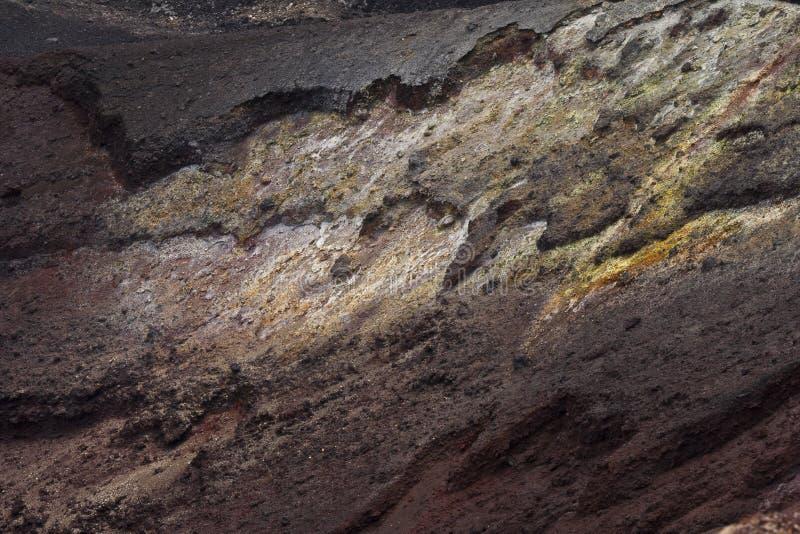 Close up da cratera do vulcão foto de stock royalty free