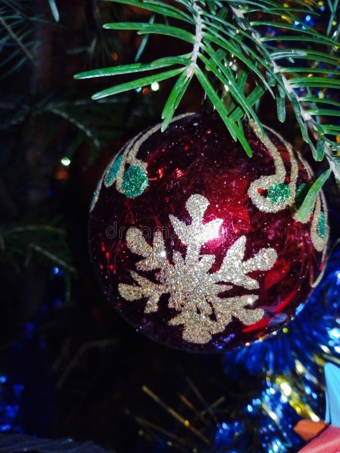 Close-up da decoração do Natal imagens de stock
