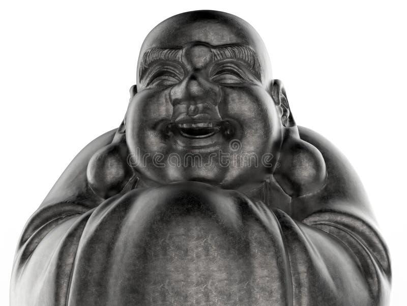 Close up da estátua da Buda do metal ilustração stock