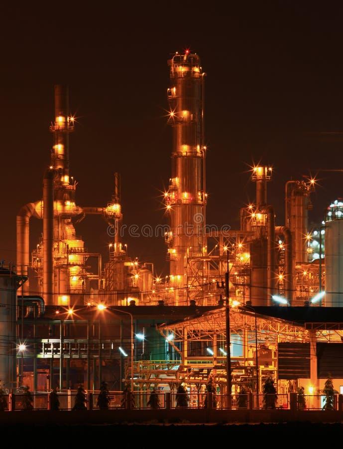 Close up da fábrica petroquímica foto de stock royalty free