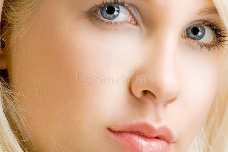 Close up da face foto de stock