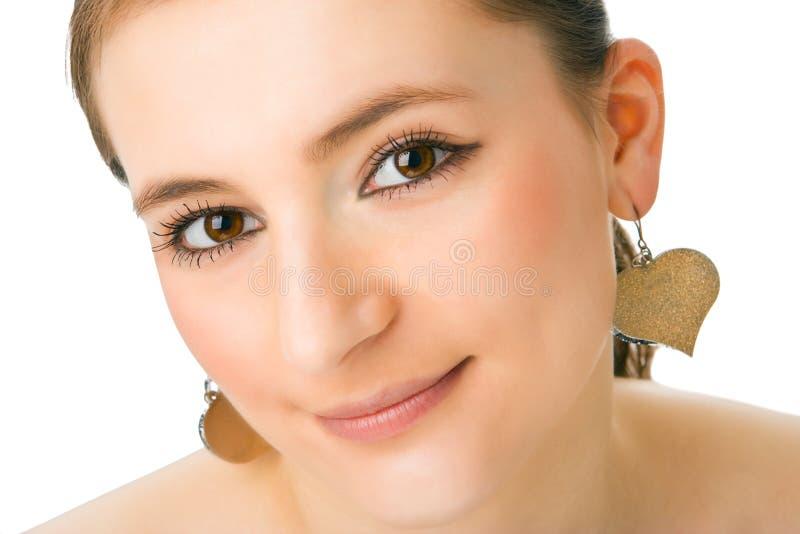Close-up da face bonita imagem de stock
