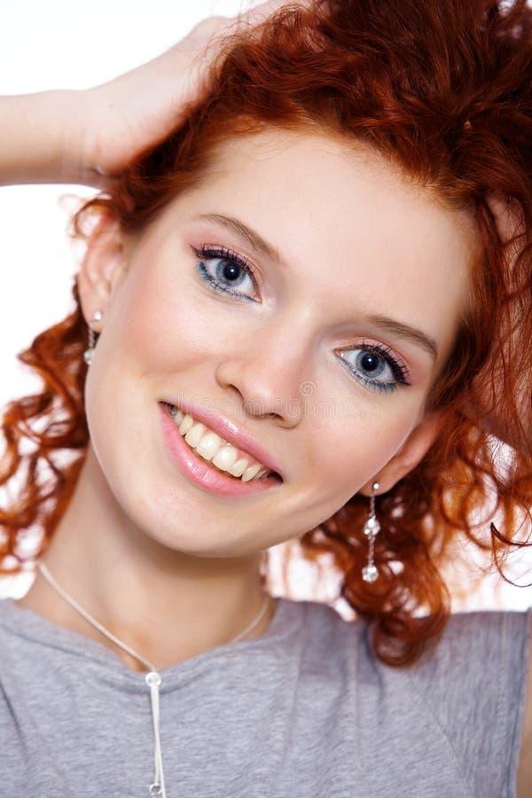 Close-up da face bonita da mulher fotografia de stock