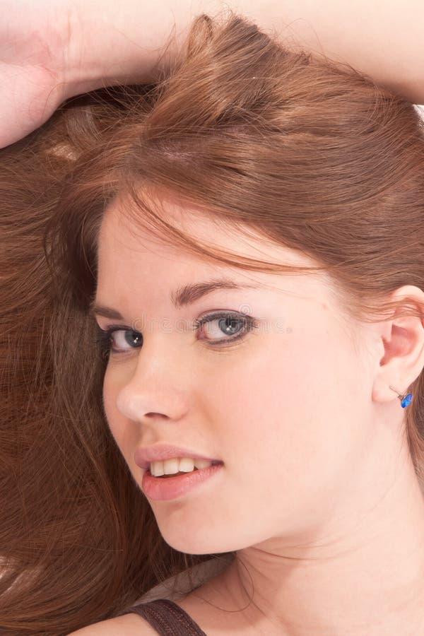 Close-up da face da menina imagens de stock