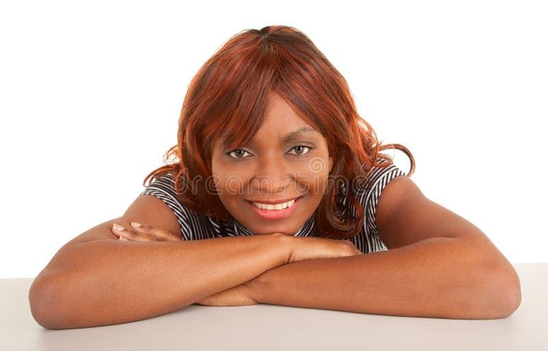 Close-up da face de uma senhora bonita do americano africano imagem de stock royalty free