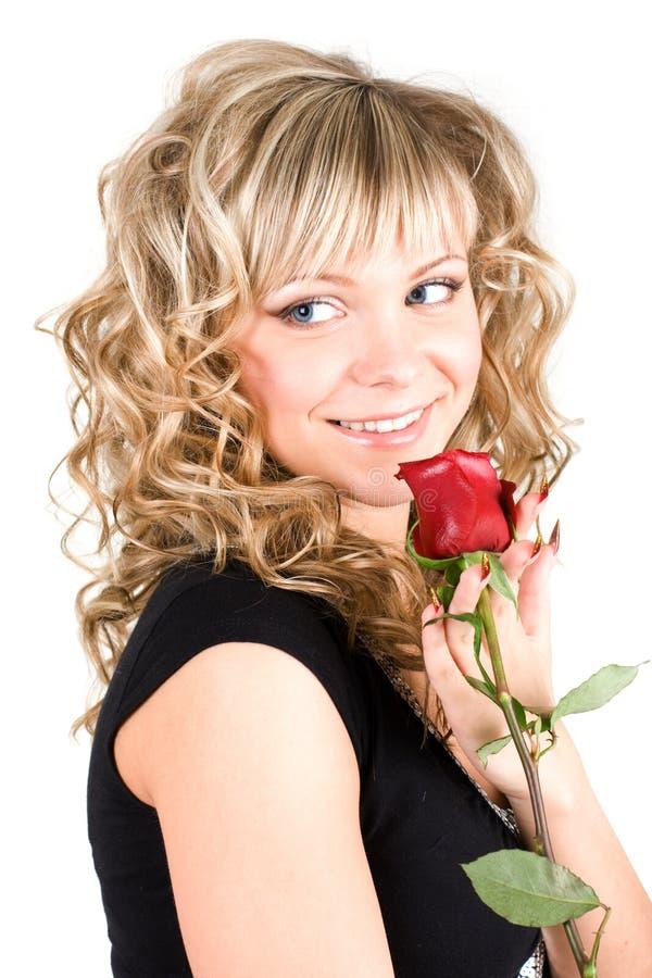 Close-up da face nova da menina do blong imagens de stock royalty free