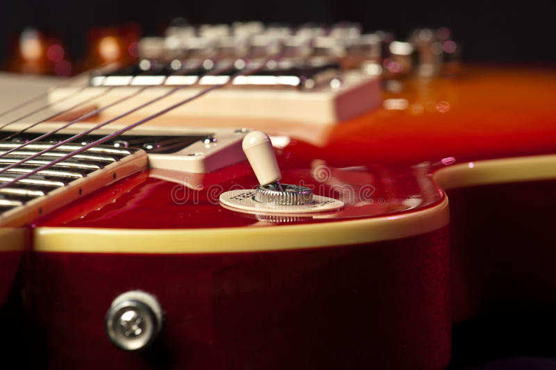 Close up da guitarra imagem de stock royalty free