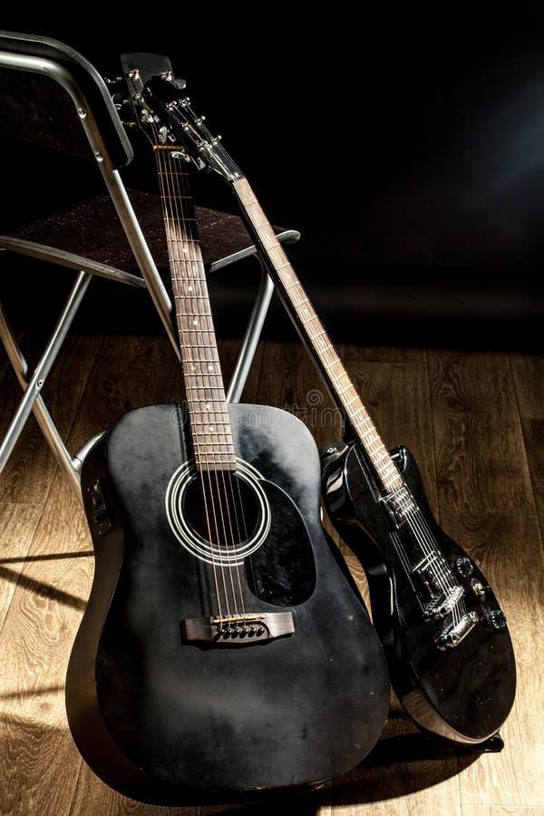 Close-up da guitarra elétrica fotografia de stock