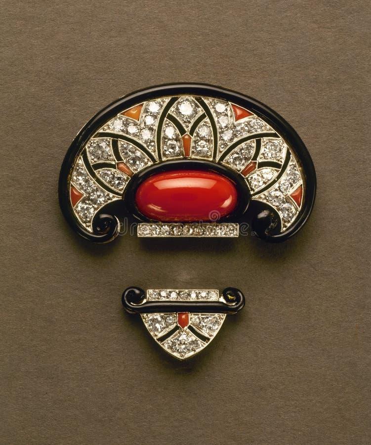 Close up da jóia brilhante do vintage fotos de stock