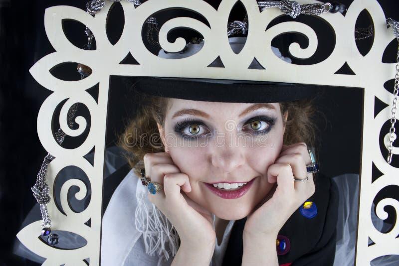 Close-up da jovem mulher fotos de stock royalty free