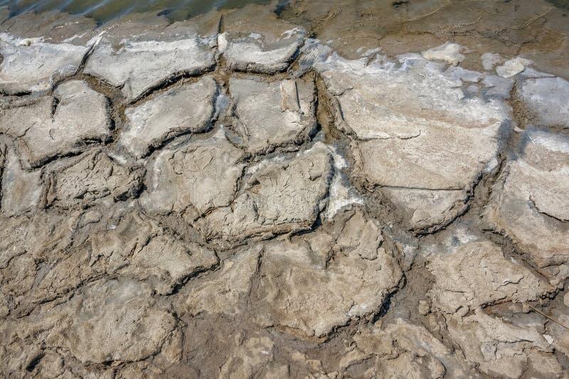 Close up da lagoa da salmoura imagem de stock