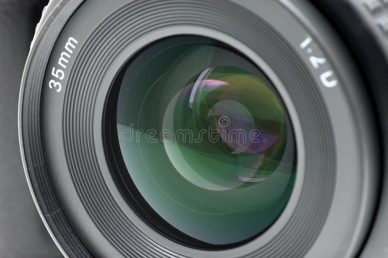 Close up da lente de câmera imagem de stock royalty free