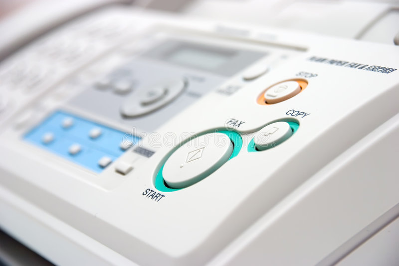 Close up da máquina de fax imagens de stock