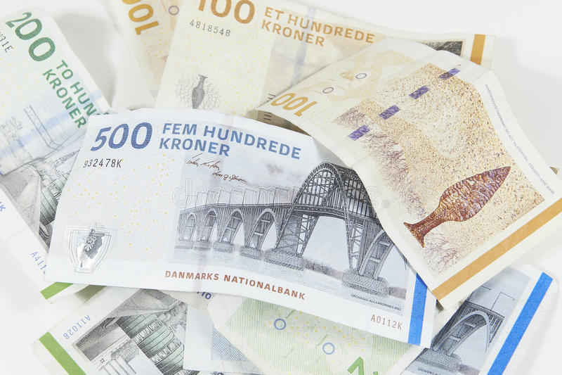 Moeda dinamarquesa fotografia de stock royalty free