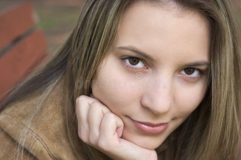 Close up da mulher foto de stock royalty free