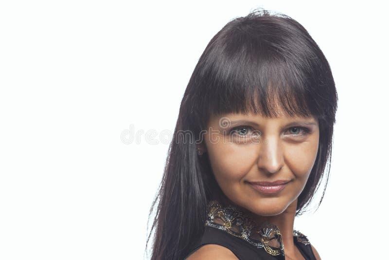 Close up da mulher caucasiano moreno fotos de stock royalty free