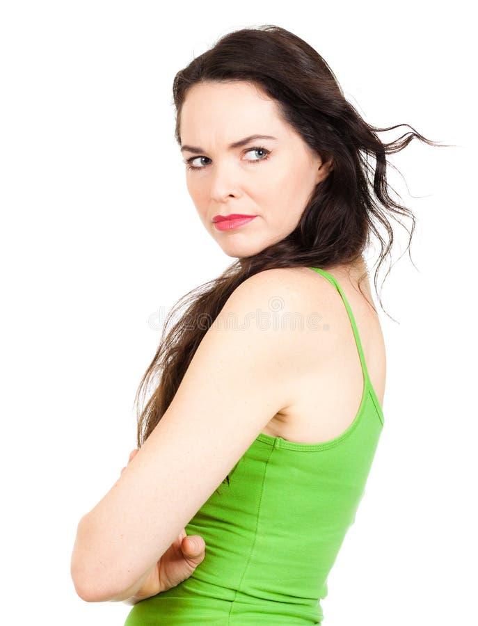 Close-up da mulher ciumento fotos de stock royalty free